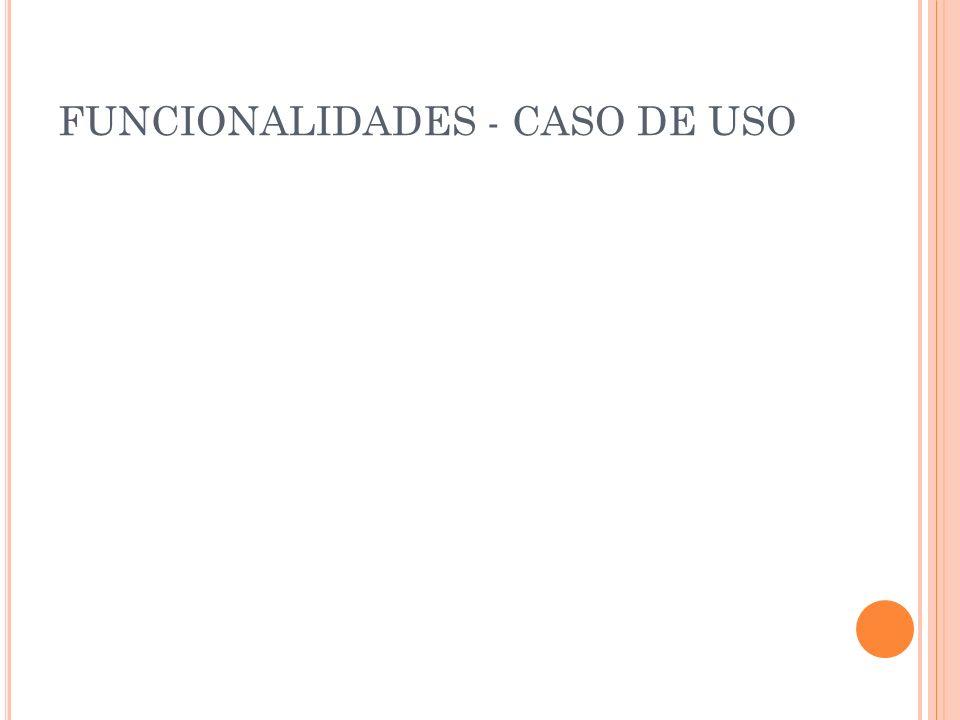 FUNCIONALIDADES - CASO DE USO