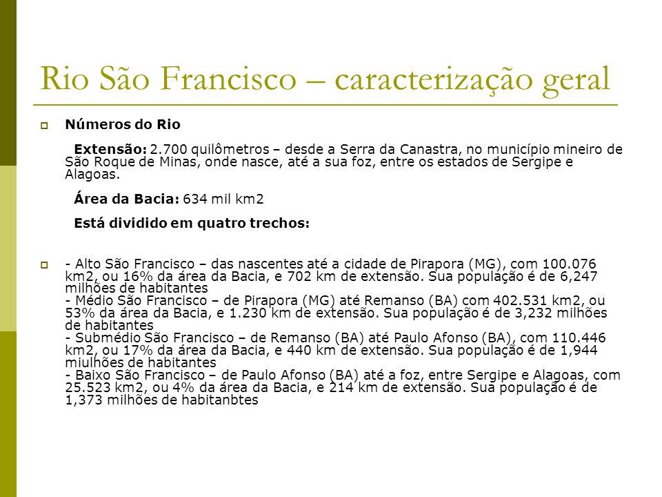 Rio São Francisco – caracterização geral
