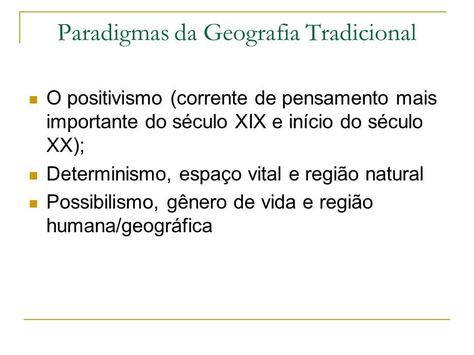 Paradigmas da Geografia Tradicional