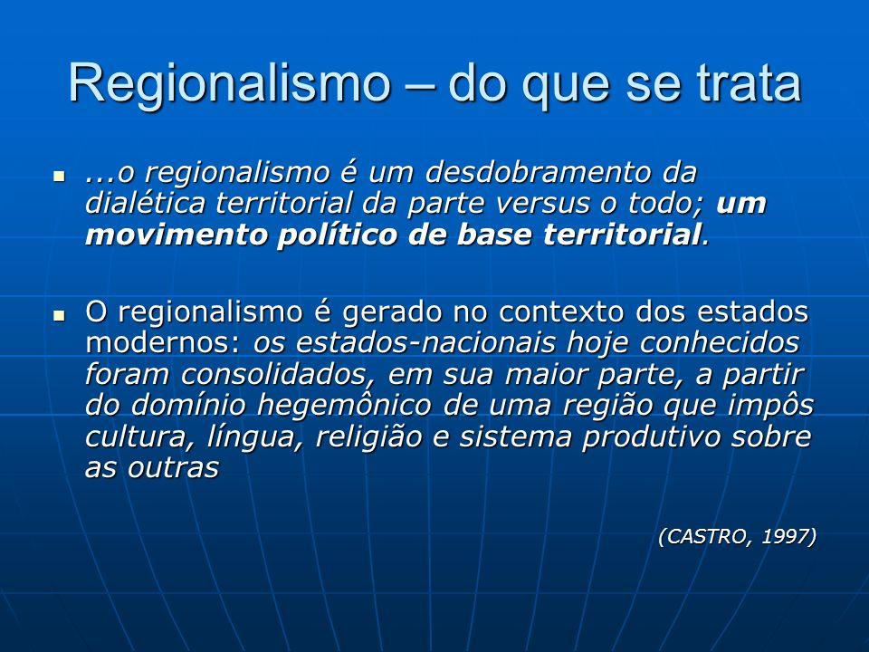 Regionalismo – do que se trata