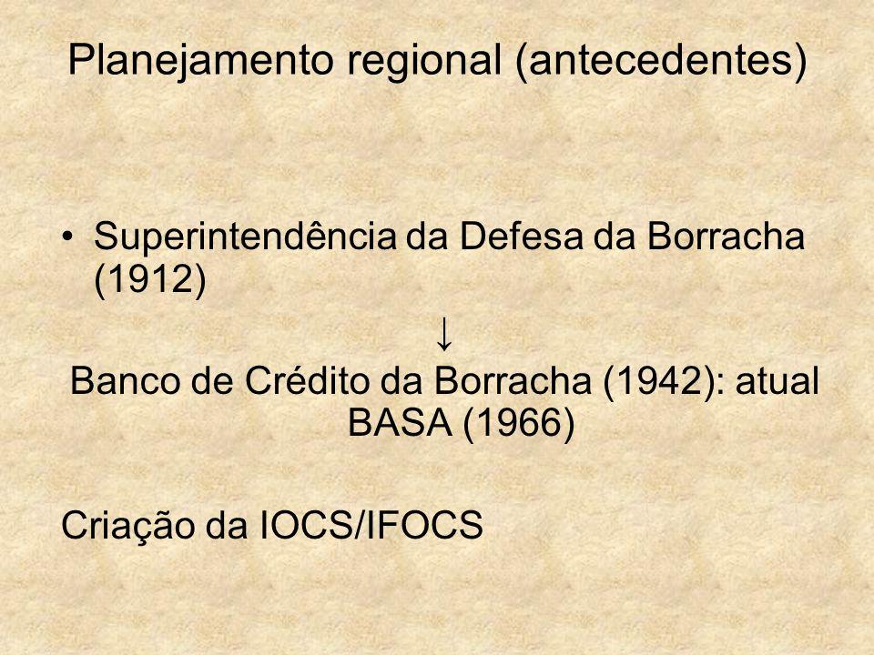 Planejamento regional (antecedentes)