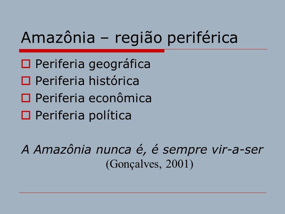 Amazônia – região periférica