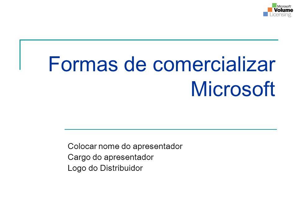Formas de comercializar Microsoft