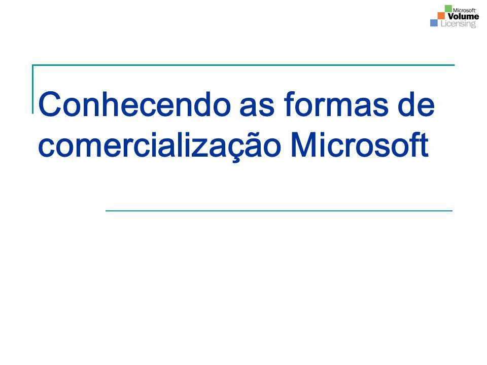 Conhecendo as formas de comercialização Microsoft