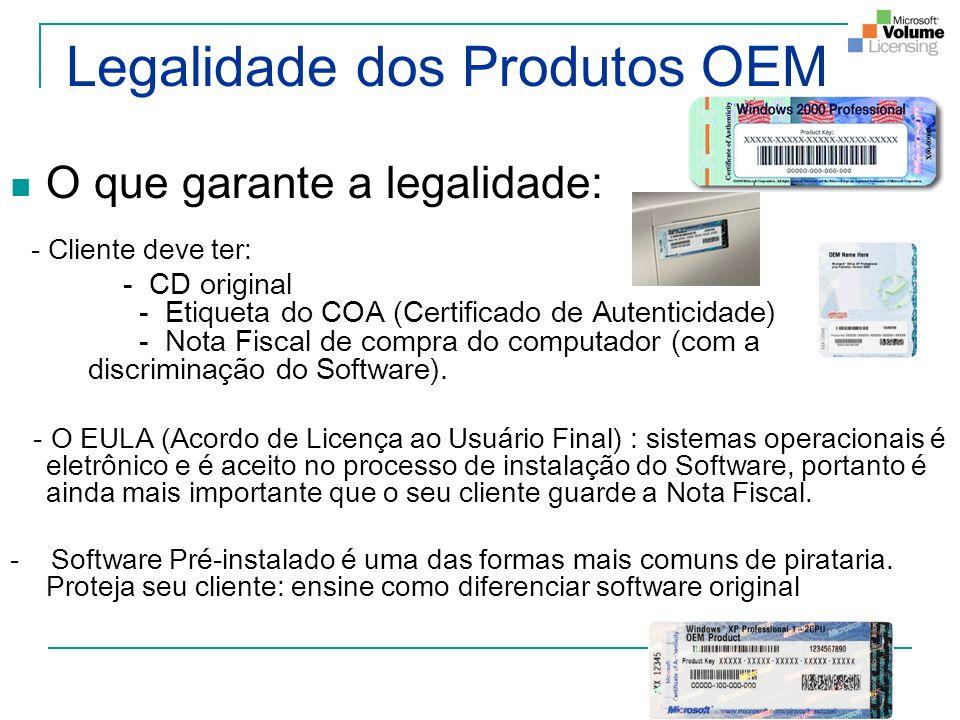 Legalidade dos Produtos OEM