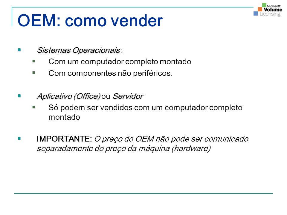 OEM: como vender Sistemas Operacionais :
