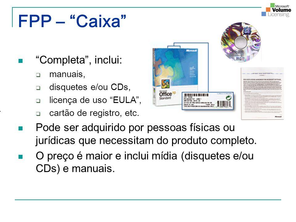 FPP – Caixa Completa , inclui: