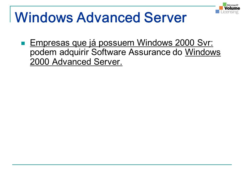 Windows Advanced Server