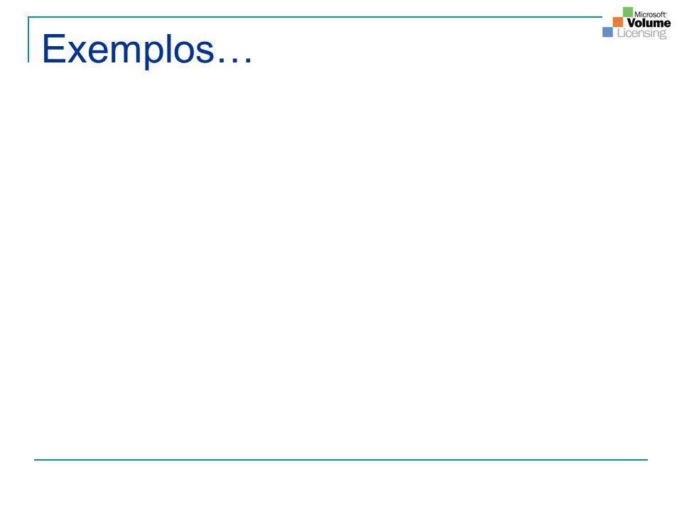 Exemplos…