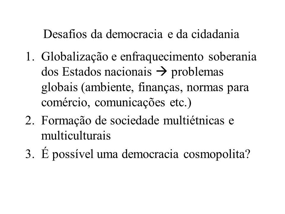 Desafios da democracia e da cidadania
