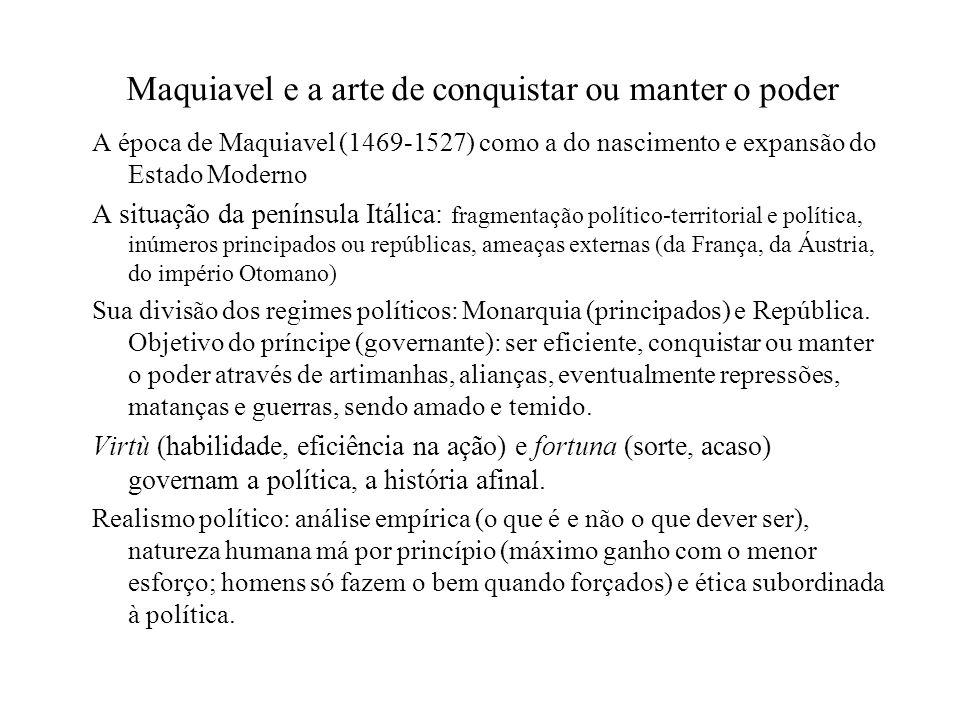 Maquiavel e a arte de conquistar ou manter o poder