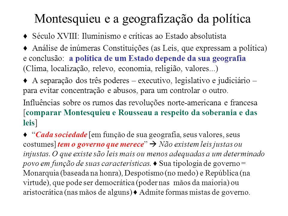 Montesquieu e a geografização da política