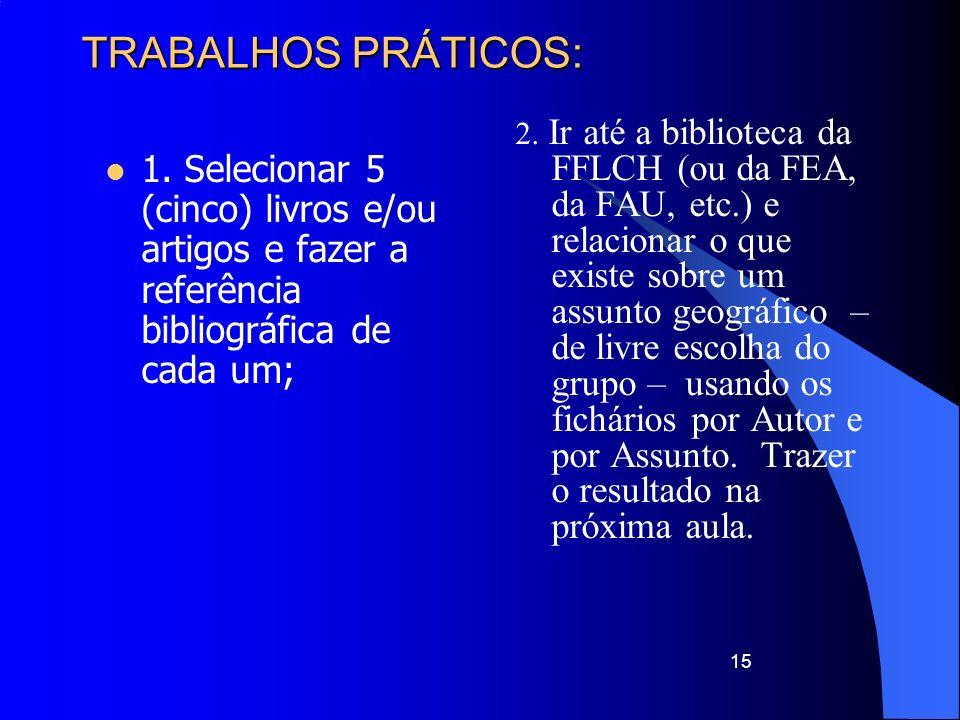 TRABALHOS PRÁTICOS: