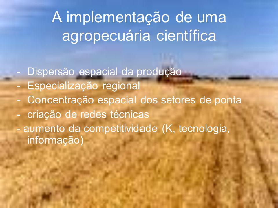 A implementação de uma agropecuária científica