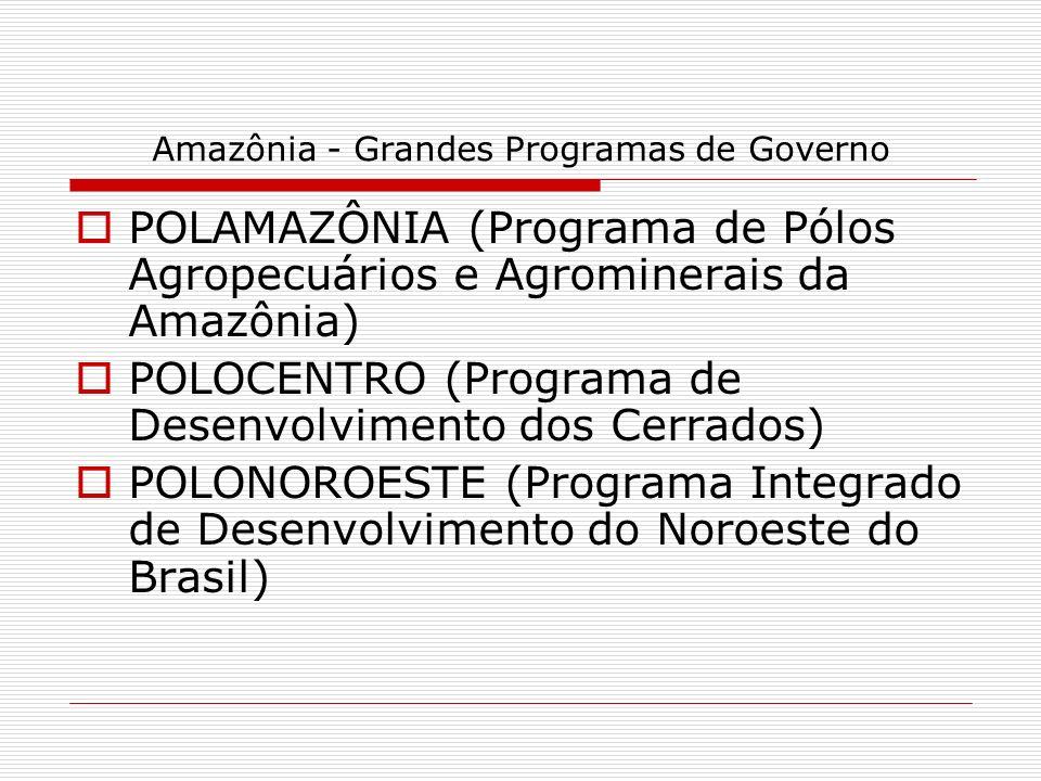 Amazônia - Grandes Programas de Governo