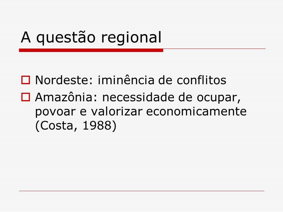 A questão regional Nordeste: iminência de conflitos