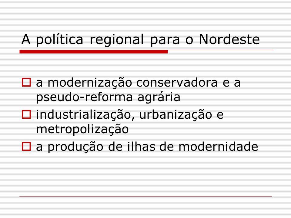 A política regional para o Nordeste