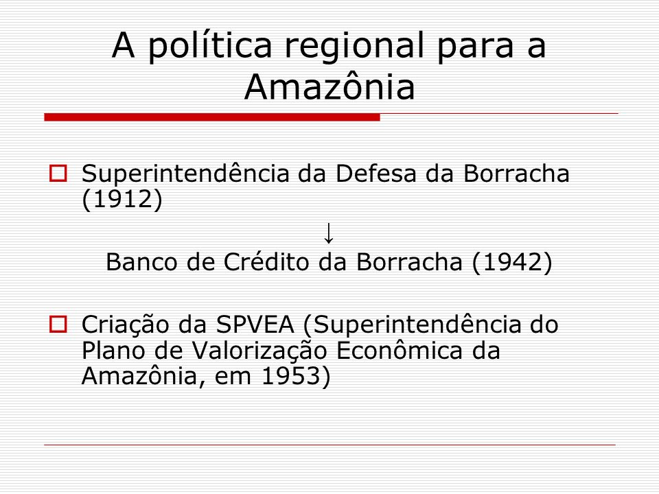 A política regional para a Amazônia