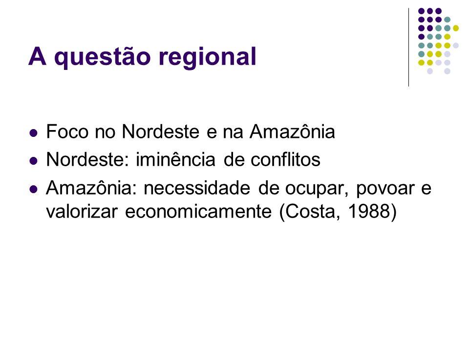 A questão regional Foco no Nordeste e na Amazônia