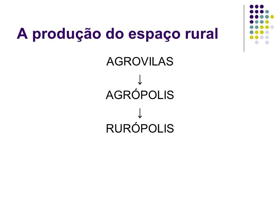 A produção do espaço rural