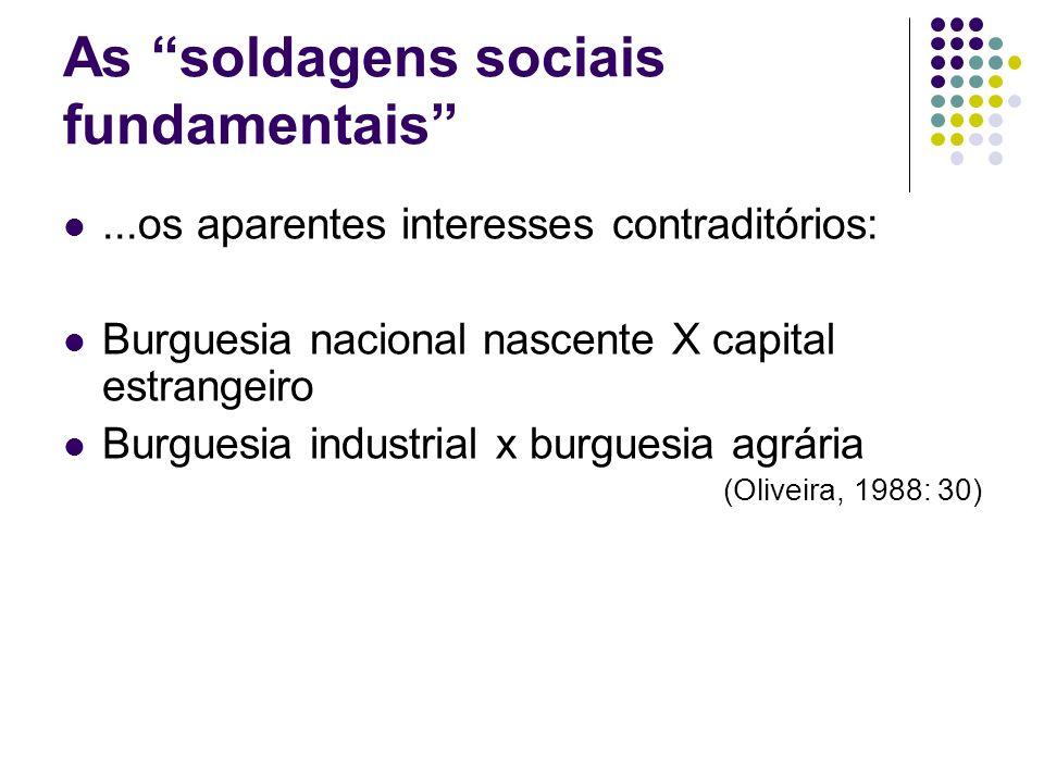 As soldagens sociais fundamentais