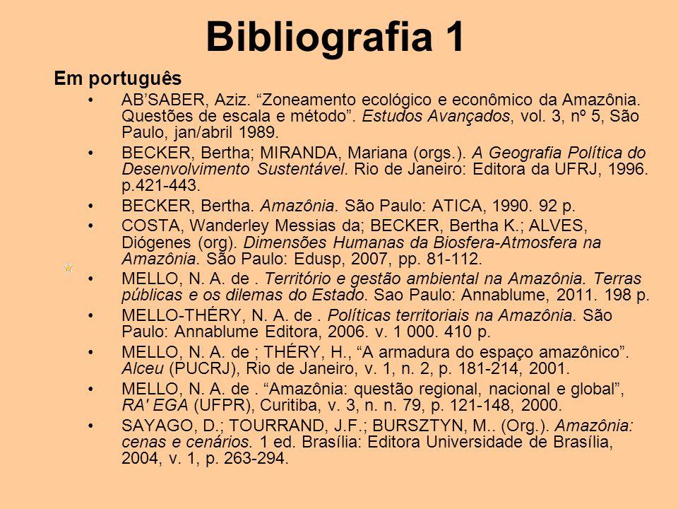 Bibliografia 1 Em português