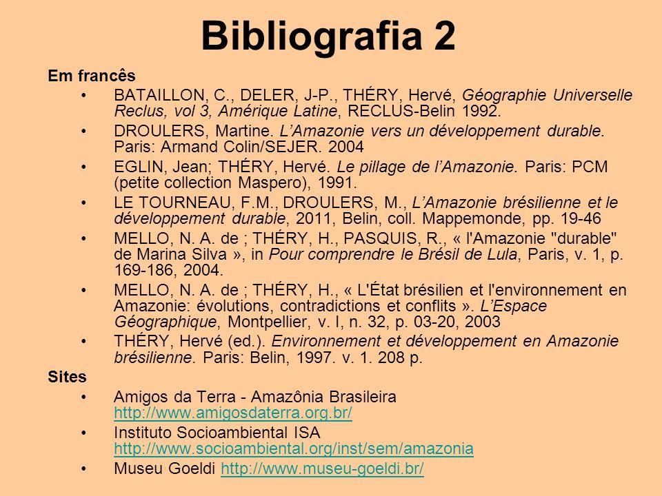Bibliografia 2 Em francês