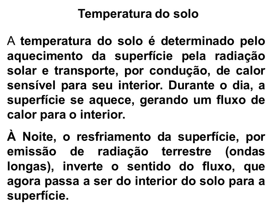 Temperatura do solo