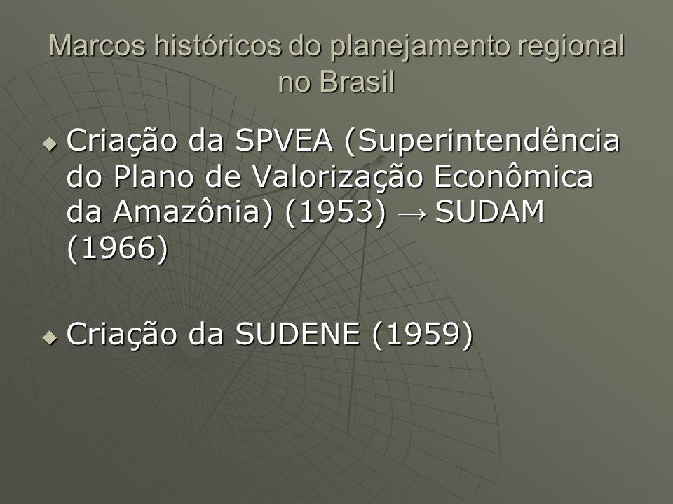 Marcos históricos do planejamento regional no Brasil