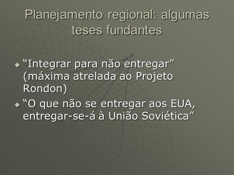 Planejamento regional: algumas teses fundantes