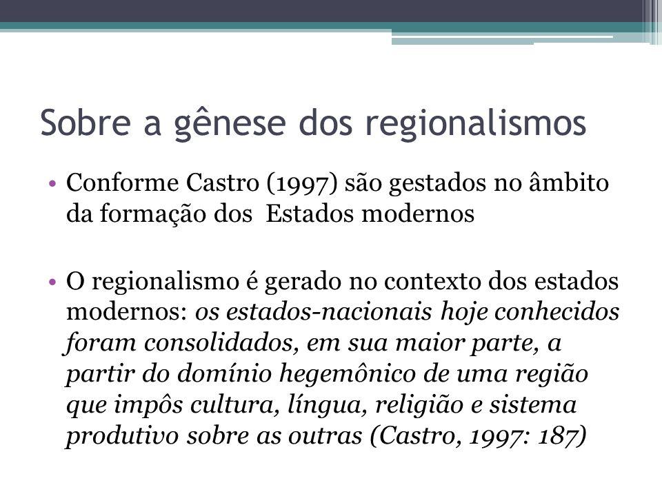 Sobre a gênese dos regionalismos