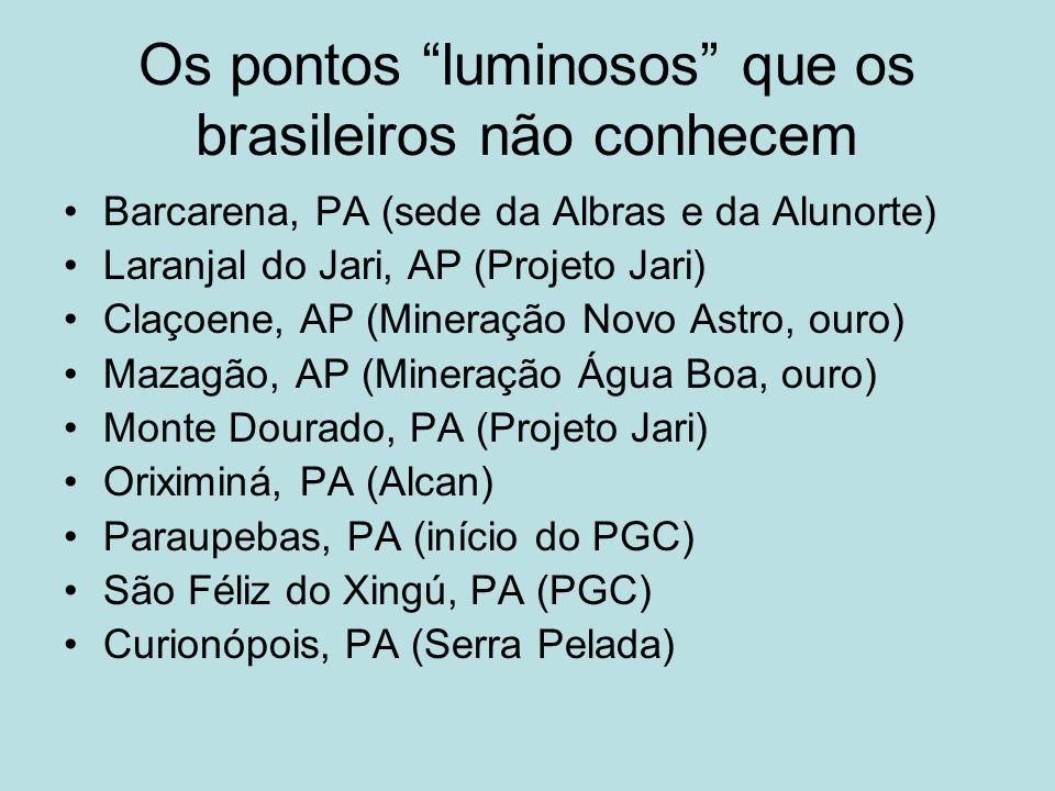 Os pontos luminosos que os brasileiros não conhecem