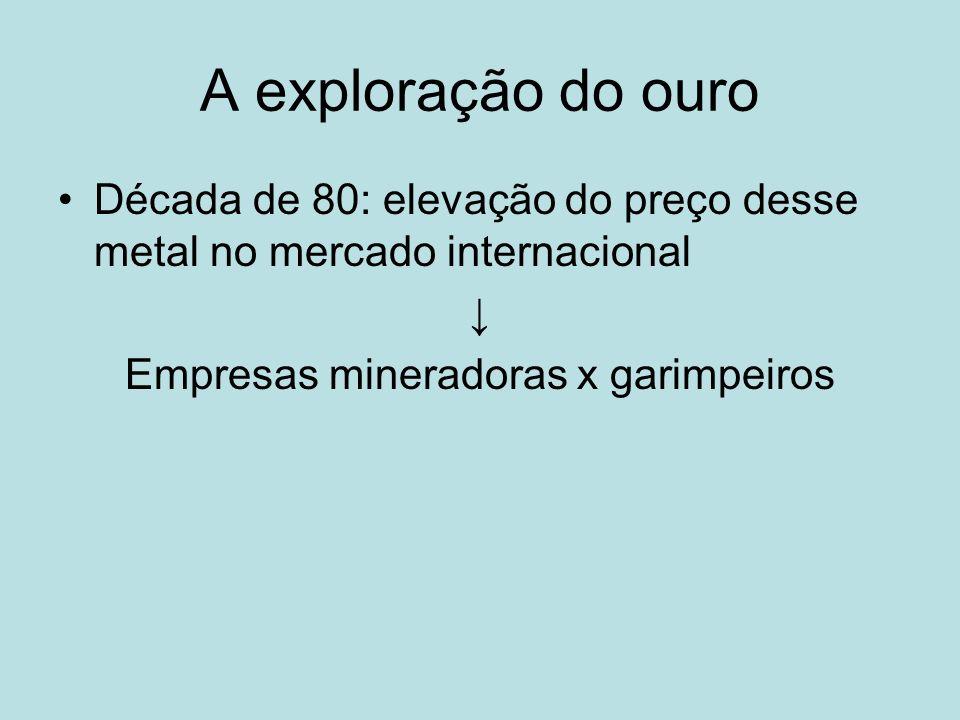 Empresas mineradoras x garimpeiros