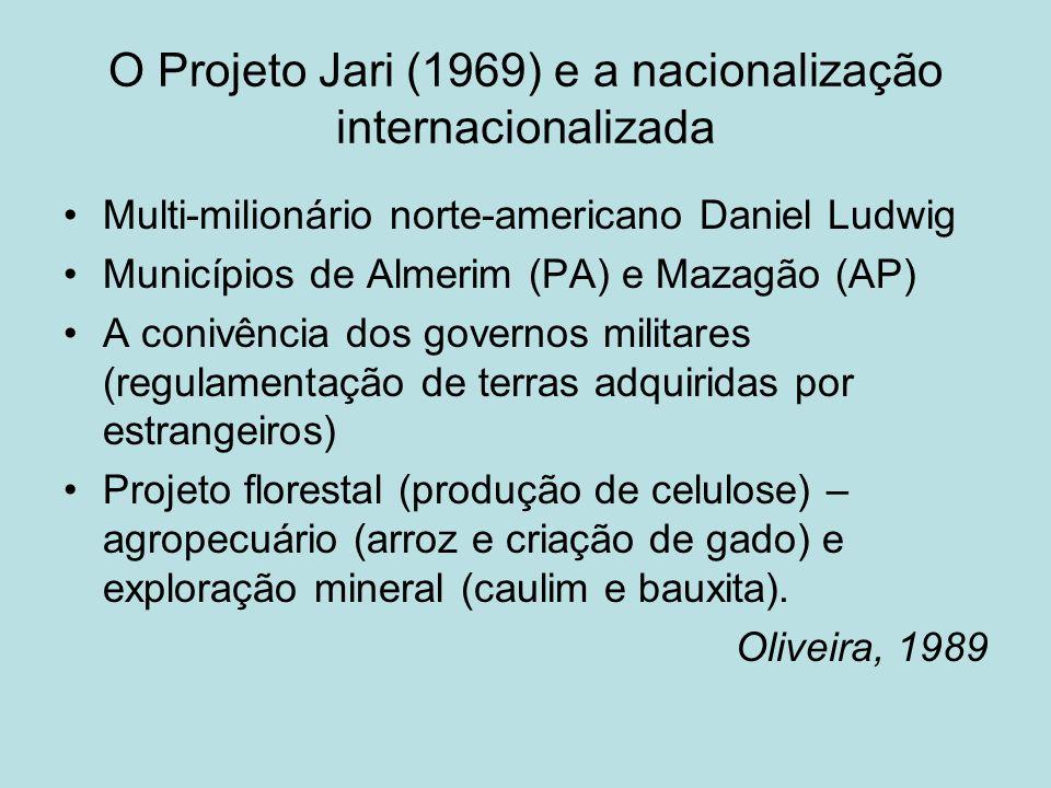 O Projeto Jari (1969) e a nacionalização internacionalizada