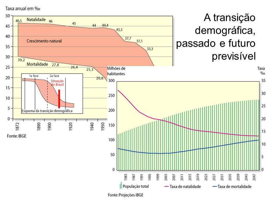 A transição demográfica, passado e futuro previsível