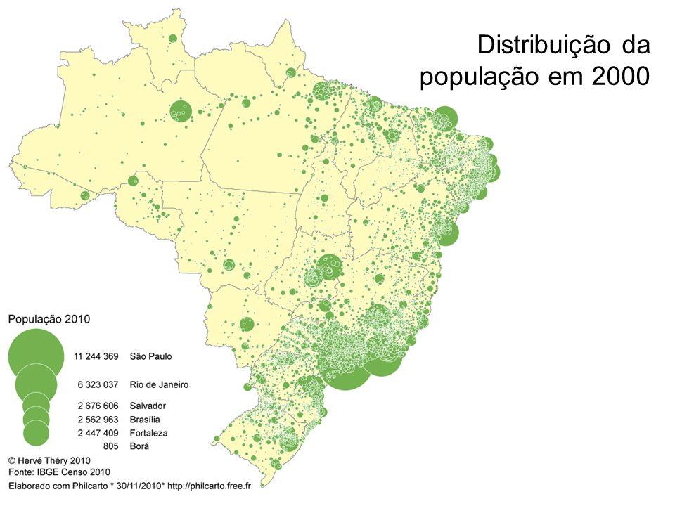 Distribuição da população em 2000