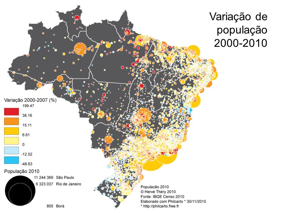 Variação de população 2000-2010