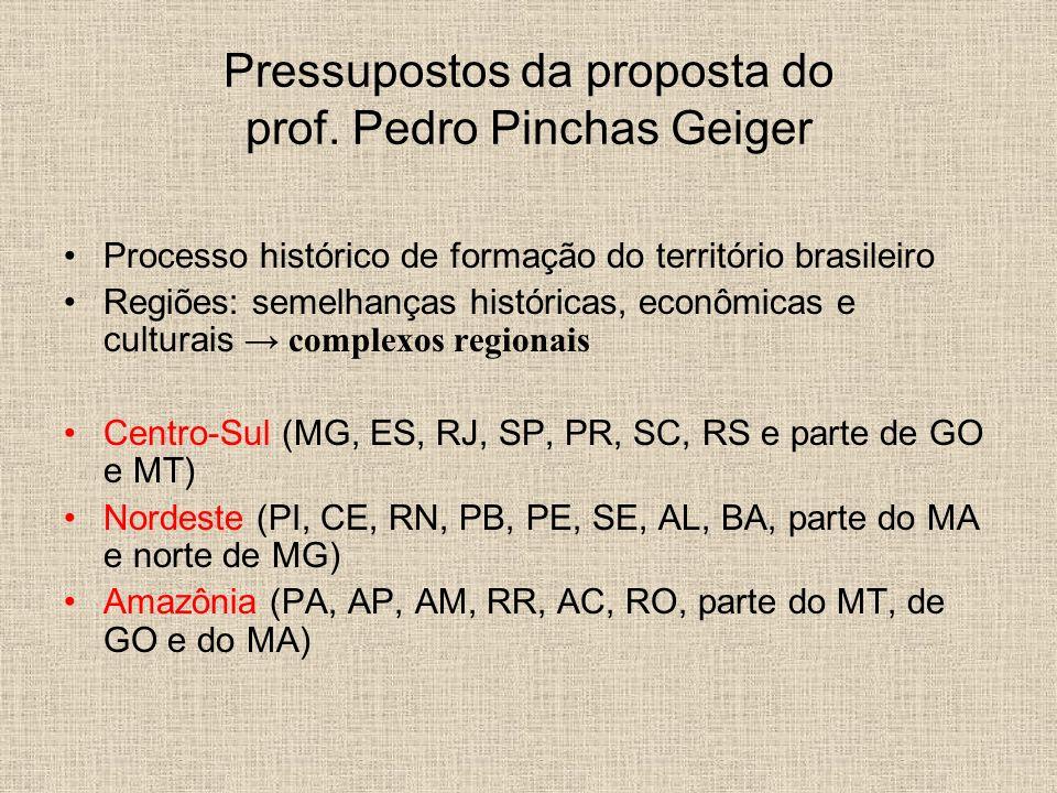 Pressupostos da proposta do prof. Pedro Pinchas Geiger
