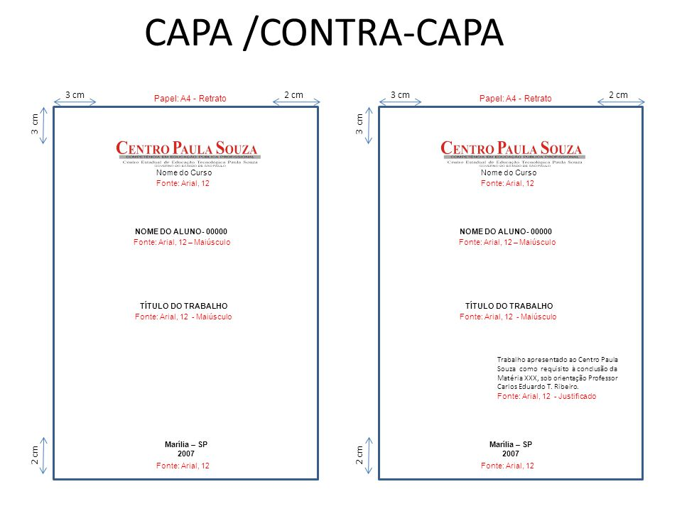 CAPA /CONTRA-CAPA 3 cm 2 cm 3 cm 2 cm 3 cm 3 cm 2 cm 2 cm