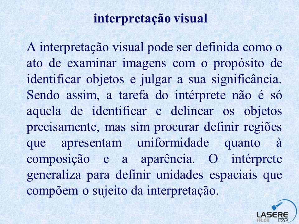 interpretação visual