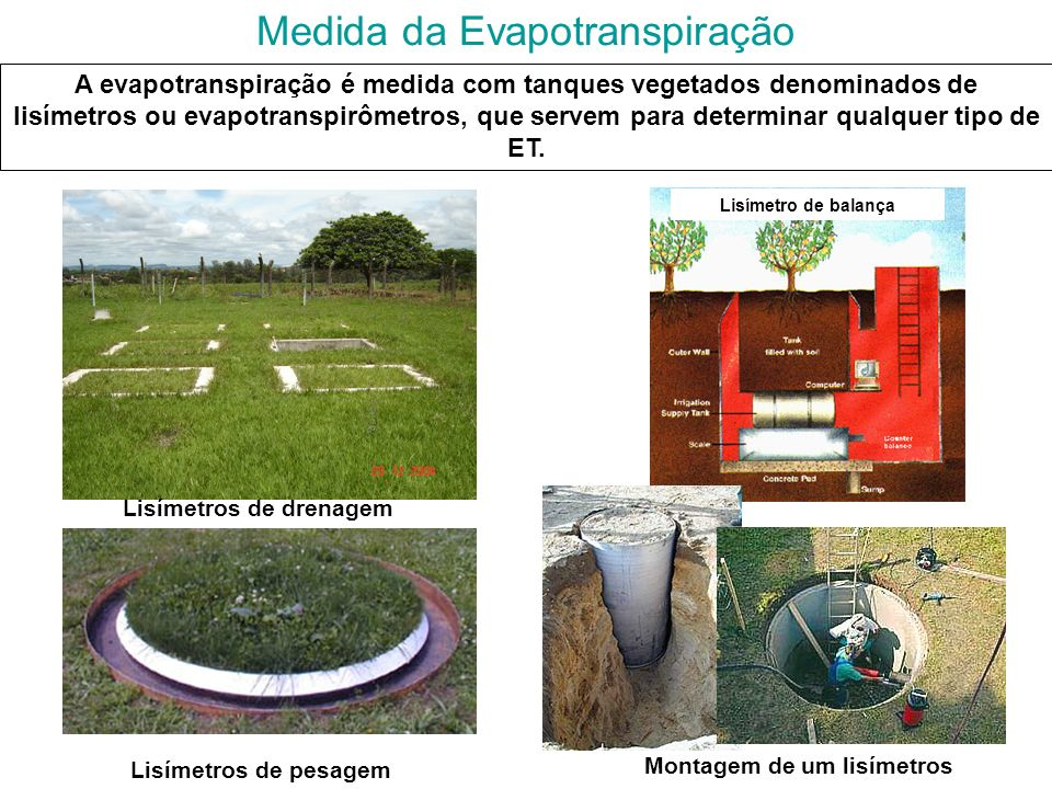 Medida da Evapotranspiração