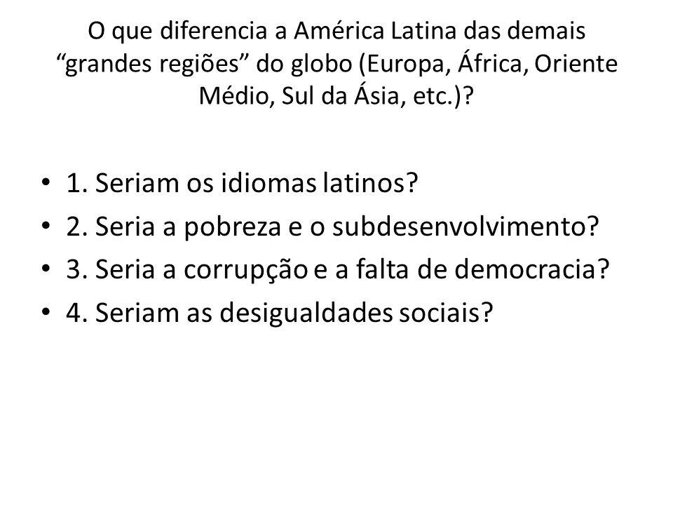 1. Seriam os idiomas latinos