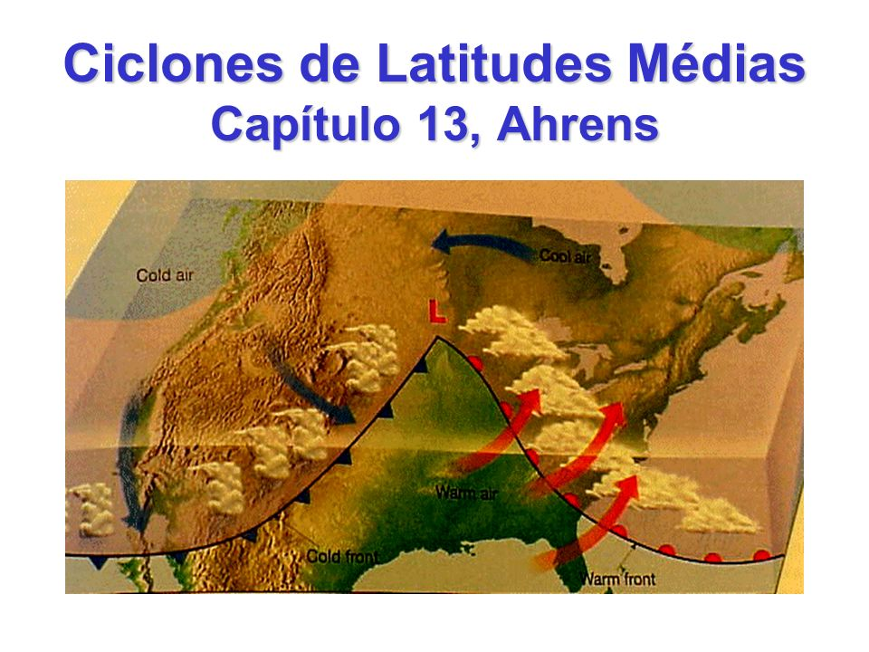 Ciclones de Latitudes Médias Capítulo 13, Ahrens