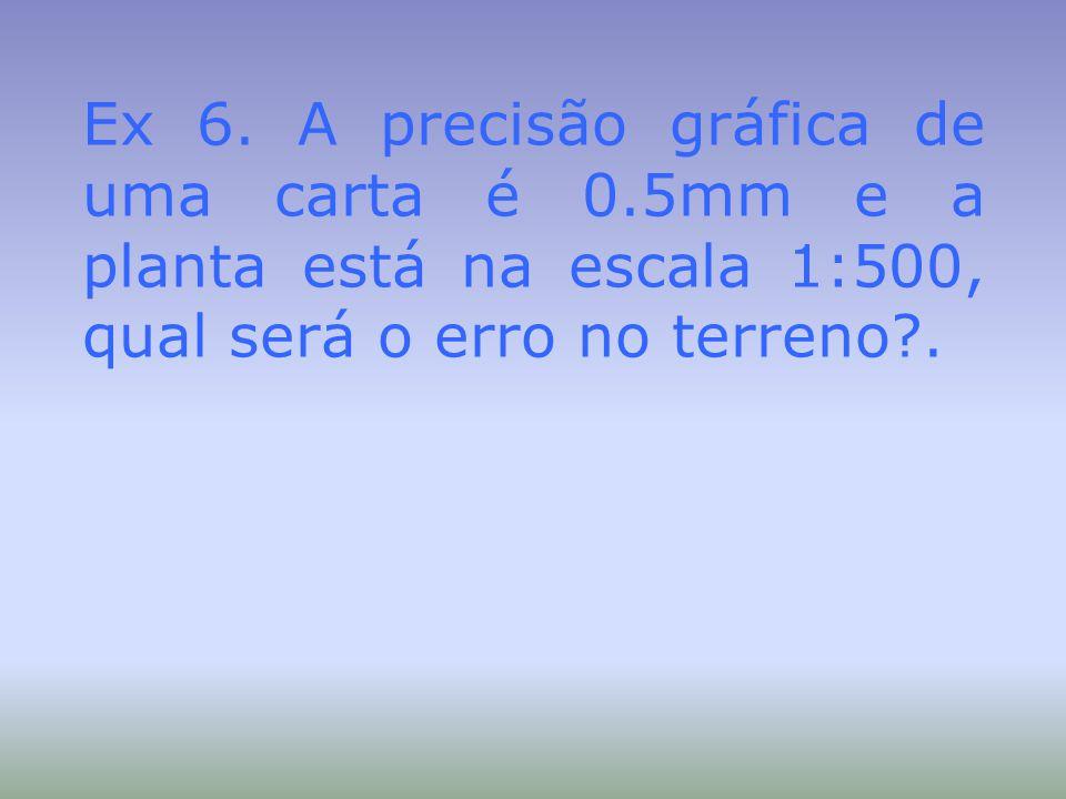 Ex 6. A precisão gráfica de uma carta é 0