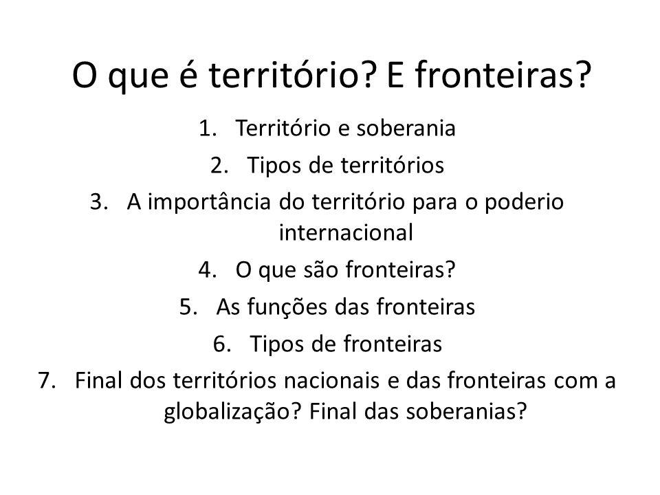 O que é território E fronteiras