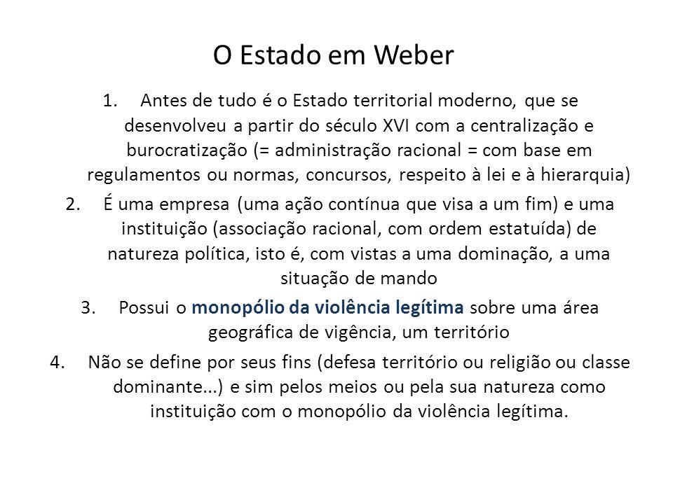 O Estado em Weber