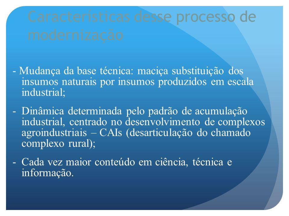 Características desse processo de modernização