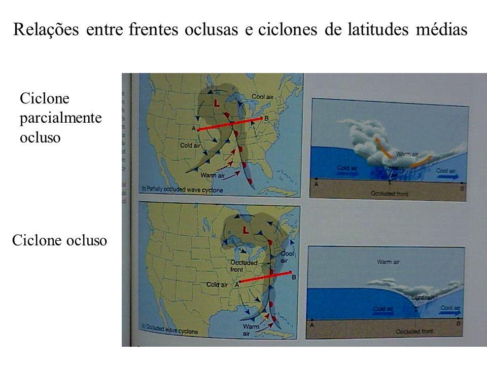 Relações entre frentes oclusas e ciclones de latitudes médias