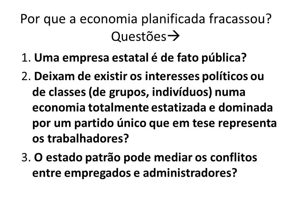 Por que a economia planificada fracassou Questões