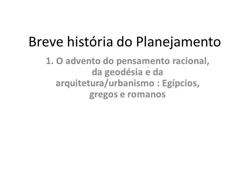 Breve história do Planejamento